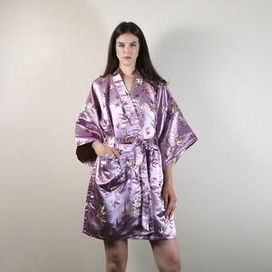 Vintage 100% silk kimono robe